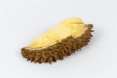 Durian sur le fond blanc Photographie stock libre de droits