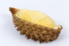 Durian sur le fond blanc Photos libres de droits