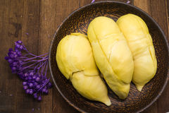 Durian thaïlandais, fruit tropical photographie stock libre de droits