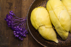 Durian thaïlandais, fruit tropical photos stock