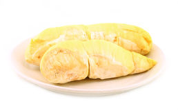 Durian (Thai Monthong Durian) on white Royalty Free Stock Images