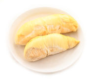 Durian (Thai Monthong Durian) on white Stock Image