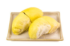 Durian. Tropical fruit isolated on white background Royalty Free Stock Photography
