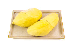 Durian. Tropical fruit isolated on white background royalty free stock photo