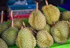 Durian vendu Photo stock
