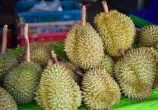 Durian venduto Fotografia Stock