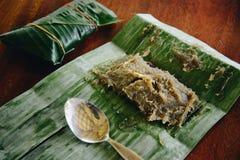 Durianaufruhr oder Durianpaste Stockbild