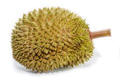 Durianfrüchte auf weißem Hintergrund lizenzfreies stockfoto