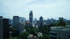 Duriang Timelapse день на области Куалаа-Лумпур строя акции видеоматериалы