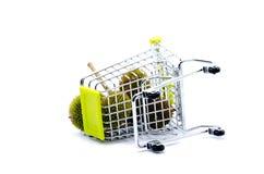 Durians και καροτσάκι Στοκ φωτογραφίες με δικαίωμα ελεύθερης χρήσης