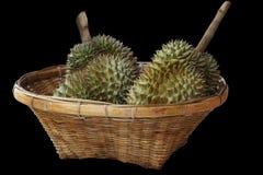 Durians στο καλάθι Στοκ φωτογραφία με δικαίωμα ελεύθερης χρήσης
