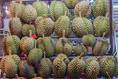 Durians konung av frukter på den thai marknaden Royaltyfria Foton