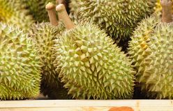Durians at market Royalty Free Stock Photography