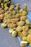 Durians in the market Stock Images