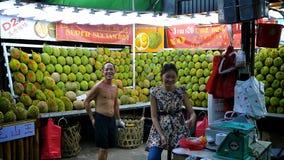 Durians-Markt Lizenzfreie Stockbilder