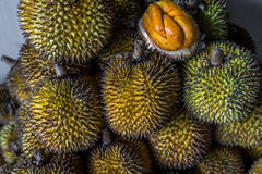 Durians. A shot of durians taken at a local market in Bintulu, Sarawak Malaysia Royalty Free Stock Photo