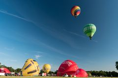 Free During The Kieler Woche 2019 Hot Air Balloons Take Off At The International Willer Balloon Sail. Stock Photography - 155795972