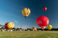 Free During The Kieler Woche 2019 Hot Air Balloons Take Off At The International Willer Balloon Sail. Royalty Free Stock Photo - 155796155