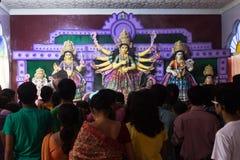 Durja Pooja, festival de Dussehra, la India Imagen de archivo