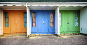 Durley Chine Beach Huts Royalty Free Stock Photos