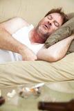 Durmiendo él apagado imagenes de archivo