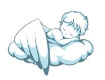 Durmiendo poco ángel stock de ilustración