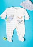 Durmiente del pijama de la ropa de los niños para el bebé Foto de archivo libre de regalías