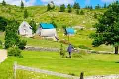 durmitor的村庄 免版税图库摄影
