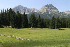 Durmitor 01. Landscape on Durmitor mountain Montenegro Europe Stock Photo