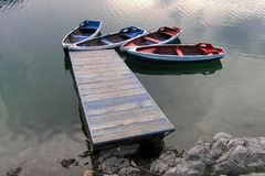 Durmitor 10. Boats on Black lake on Durmitor mountain Montenegro Royalty Free Stock Photos