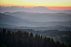 Durmitor gór warstwy, Montenegro obraz stock
