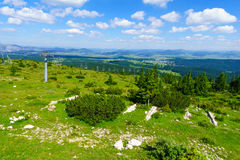 Durmitor Landscape and ski Lift. Landscape view and a ski lift in Durmitor National Park, Northern Montenegro Royalty Free Stock Photos