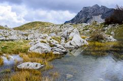 Durmitor, Montenegro. View at Durmitor mountain in Montenegro Royalty Free Stock Photos