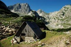 Durmitor National Park, Montenegro. A pastoral wooden house in Durmitor National Park, Montenegro Royalty Free Stock Image