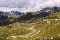Durmitor National Park, Montenegro with road Royalty Free Stock Photos