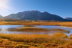 Durmitor nationalpark - sjöområde Fotografering för Bildbyråer