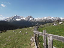 Durmitor Pitomine view. Durmitor view from the village Pitomine Stock Photos