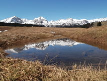 Durmitor reflection in the water Stock Image