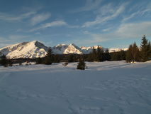 Durmitor winter panorama Stock Images