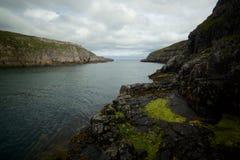 Durnessklippen op zee Schotland stock afbeelding