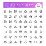 Durnia dnia linii ikony Ustawiać Obraz Royalty Free