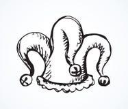 Durnia ` s kapelusz rysuje t?a trawy kwiecistego wektora ilustracja wektor