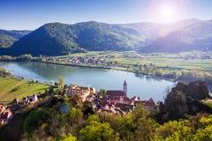 Durnstein, κοιλάδα Wachau australites στοκ εικόνα με δικαίωμα ελεύθερης χρήσης