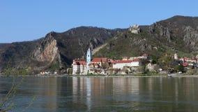 Durnstein in the Austrian Wachau region stock footage