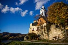 Durnstein castle. Castle of Durnstein, Wachau valley, Austria royalty free stock photography