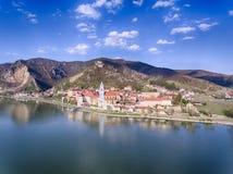 Durnstein dans la région autrichienne de Wachau Image libre de droits