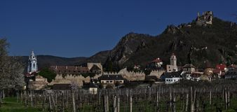 Durnstein on the Danube River in the picturesque Wachau Valley stock photography