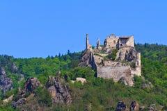Durnstein em Danúbio (vale) de Wachau, Áustria imagens de stock