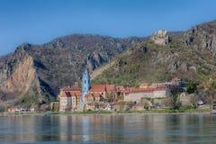 Durnstein en la región austríaca de Wachau Foto de archivo libre de regalías