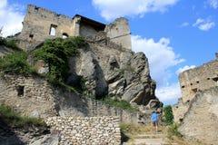 Durnstein Fortress, Wachau valley Stock Images